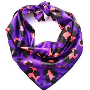 New Dog Bandana Purple Leopard Print Dog Accessory